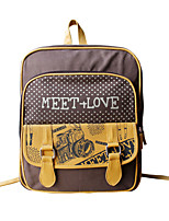 Flower Princess® Women Canvas Backpack Coffee-1302L001