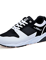 Women's / Men's Sneakers Spring / Fall Comfort Tulle Athletic Flat Heel Lace-up Black / Blue / Black and White Sneaker