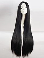 Cos Wig Black in Long Straight Hair Wigs 100cm Long Wigs