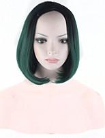 ombre sintetico parrucche economiche parrucche nero-verde sintetico femminile sexy taglio di capelli corto parrucche belle donne parrucche