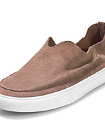 Women's Shoes Cowhide / Suede Four Seasons Comfort / Round Toe / Flats Sneakers Office & Career / Casual Platform