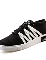 Men's Flats Comfort / Round Toe Tulle Outdoor / Athletic / Casual Flat Heel Others / Black / Blue shoes sneaker