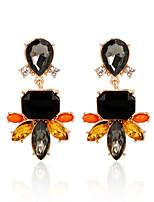 Hot Sale 2016 Vintage Fashion Fine Jewelry Brincos Beautiful Rhinestone Flower Crystal Dangle Earrings For Women