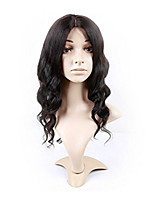 EVAWIGS Middle U Part Loose Wave Brazilian Virgin Remy Human Hair Lace Front Wigs Unprocessed Black Color
