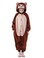 Kigurumi pijamas nueva Cosplay® / Mono Leotardo/Pijama Mono Víspera de Todos los Santos ropa de noche de los animales Marrón Un ColorLana