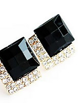 Earring Square Stud Earrings Jewelry Women Fashion Daily / Casual Alloy 1pc Gold / Silver