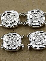DIY Jewelry Silver Rose Charm for Bracelet