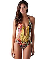 Ademend-Dames-Zwemmen / Strand-Bikini's(Geel)