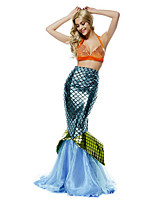 Costumes Mermaid Tail Halloween / Christmas / Carnival Green / Orange / Blue Vintage Top / Tail