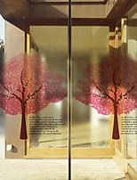 Пленка на окна-Деревья / листья-Современный