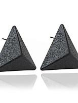 귀걸이 Triangle Shape 보석류 1 쌍 패션 결혼식 / 파티 / 일상 / 캐쥬얼 지르콘 여성 블랙