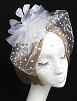 Women's Feather / Tulle / Net Headpiece-Wedding Birdcage Veils 1 Piece
