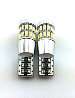 2PCS T10 3014*30SMD 2W 6000-6500K Decoding lamp White Light for Car 12V