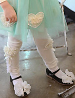 Girl's Cotton Spring/Autumn Cute Heart Leisure Warm Lace Tutu Leggings Pants