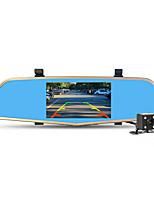cámara de 5 pulgadas espejo grabadora de vídeo digital DVR nuevo coche de la lente dual DVR videocámara Full HD 1080p registrador