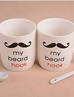 barba par de conjuntos de tazas de café con cucharas taza de agua de cerámica