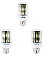 3 pcs E14 / E26/E27 / B22 LED Corn Lights 136 SMD 5733 1600 lm Warm White / Cool White Decorative AC 220-240 V