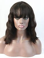 Natural Wave Lace Front Wig With Baby Hair Bleached Knots Full Lace Virgin Human Hair Wigs For Black Women On Sale
