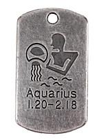 10pcs New Alloy Parts Twelve Constellation Aquarius Square Accessories