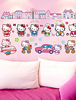 Bande dessinée Stickers muraux Stickers avion Stickers muraux décoratifs,PVC Matériel Amovible Décoration d'intérieur Wall Decal