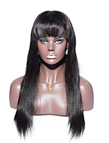 No shedding No tangle Straight Human Hair Full Lace Wig