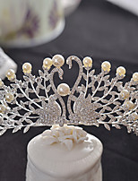 Vrouwen Licht Metaal Helm-Bruiloft / Speciale gelegenheden Tiara's 1 Stuk Zilver