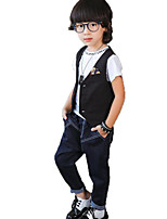 Boy's Casual/Daily Solid Pants,Cotton Spring / Fall Blue