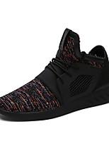Черный / Синий / Черный и красный-Мужской-Для прогулок / На каждый день / Для занятий спортом-Тюль-На плоской подошве-Удобная обувь-Кеды