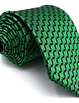 Men's Necktie Tie For Men Green Ripple 100% Silk Extra Long Jacquard Woven Business Dress Casual Wedding