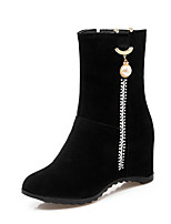 Women's Boots Fashion Boots / Pointed Toe Suede Party & Evening / Dress / Casual Stiletto Heel Sequin / Zipper