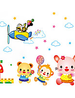 Wall Stickers Wall Decals Style Cartoon Animal Pilot PVC Wall Stickers