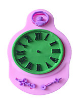 A Pocket Watch Type Candy Fondant Cake Molds  For The Kitchen Baking Molds 9.2X6X0.7cm