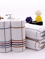 1PC Full Cotton Hand Towel Super Soft 13 by 29 inch Stripe Pattern Strong Water Absorption Capacity