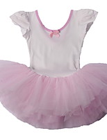 White Fuffle Skirt Dancewear One-Piece Classical Girls Ballet Performance Tutu Dresses for 3~8 Years Children