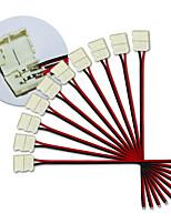 KWB-10MM 2PIN 10PCS LED STRIP CONNECTORS FOR 5050 SINGLE COLOR LED STRIP
