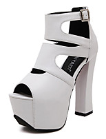 Women's Sandals Summer Sandals / Open Toe PU Casual Chunky Heel Others White Others