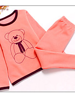 Boy's Casual/Daily Print Clothing Set / Sleepwear,Cotton Winter / Fall Green / Pink / Yellow / Gray