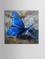 Hand-Painted Abstract Blue Butterfly Oil Painting living RoomRestaurant Wall Art Decor With Frame Ready To Hang
