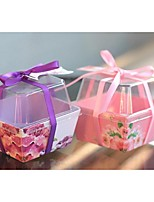 Boîtes Cadeaux(Raisin / Rose,Plastique)Thème jardin- pourMariage