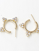 Earring Geometric Jewelry Women Fashion Wedding / Party / Daily / Casual / Sports Alloy / Rhinestone 1 pair Gold / Silver