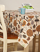 Coton mélangé Rectangulaire Nappes de table