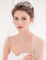 Women's Alloy Headpiece-Wedding / Casual Tiaras / Headbands / Hair Tool 1 Piece Silver Round free size