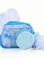 Fenlin ®  Travel Bath Set 1 Shower Cap+ 1 Sponge + 1 Bath Lily with A Bag
