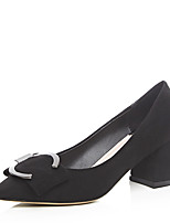 Women's Heels Spring / Fall Heels Party & Evening / Dress Chunky Heel Buckle Black / Gray Others