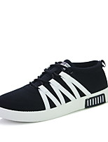 Men's Shoes Synthetic Casual Sneakers Casual Sneaker Flat Heel Lace-up Black / Blue / Gray