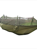 Portable Tactical 400kg Maximum load Travel Camping Outdoor Waterproof Fabric Hammock Hanging Nylon Bed + Mosquito Net