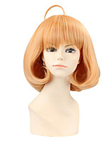 Perruques de Cosplay Au-delà de la frontière Mirai Kuriyama Beige Court Anime Perruques de Cosplay 30 CM Fibre synthétique Féminin