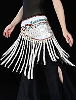 Belly Dance Belly Dance Hip Scarves Women's Performance Chinlon Sequins 1 Piece