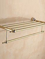 Bathroom Shelf / Towel Warmer / Gold / Wall Mounted /60*22.3*13.7cm /Stainless Steel / Zinc Alloy /Contemporary /