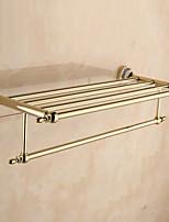 Prateleira de Banheiro / Aquecedor de Toalha / Dourada / De Parede /60*22.3*13.7cm /Aço Inoxidável / Liga de Zinco /Contemporâneo /60cm